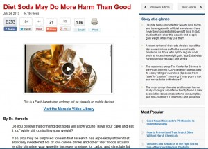 diet soda article