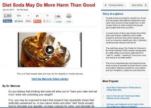diet soda article