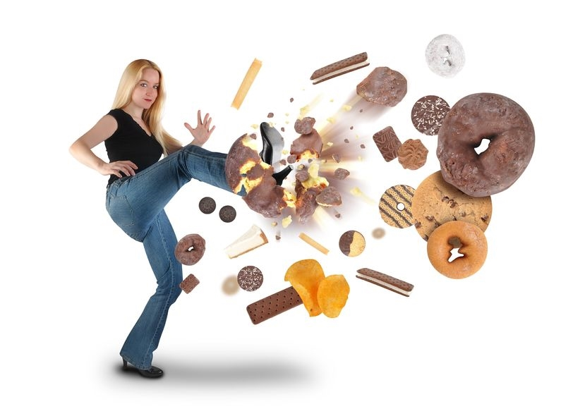 woman-kicking-junk-food
