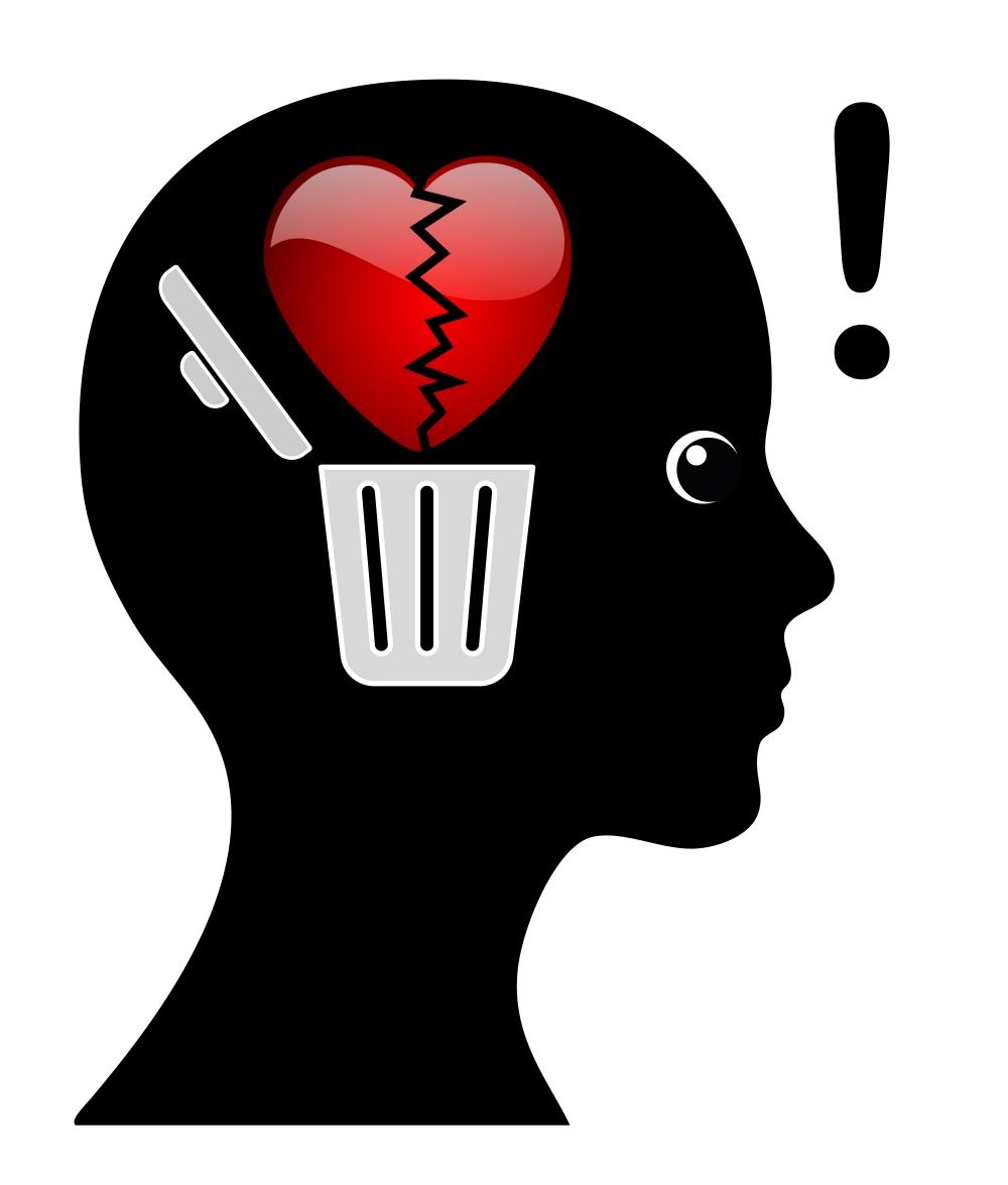 Woman is getting over broken heart