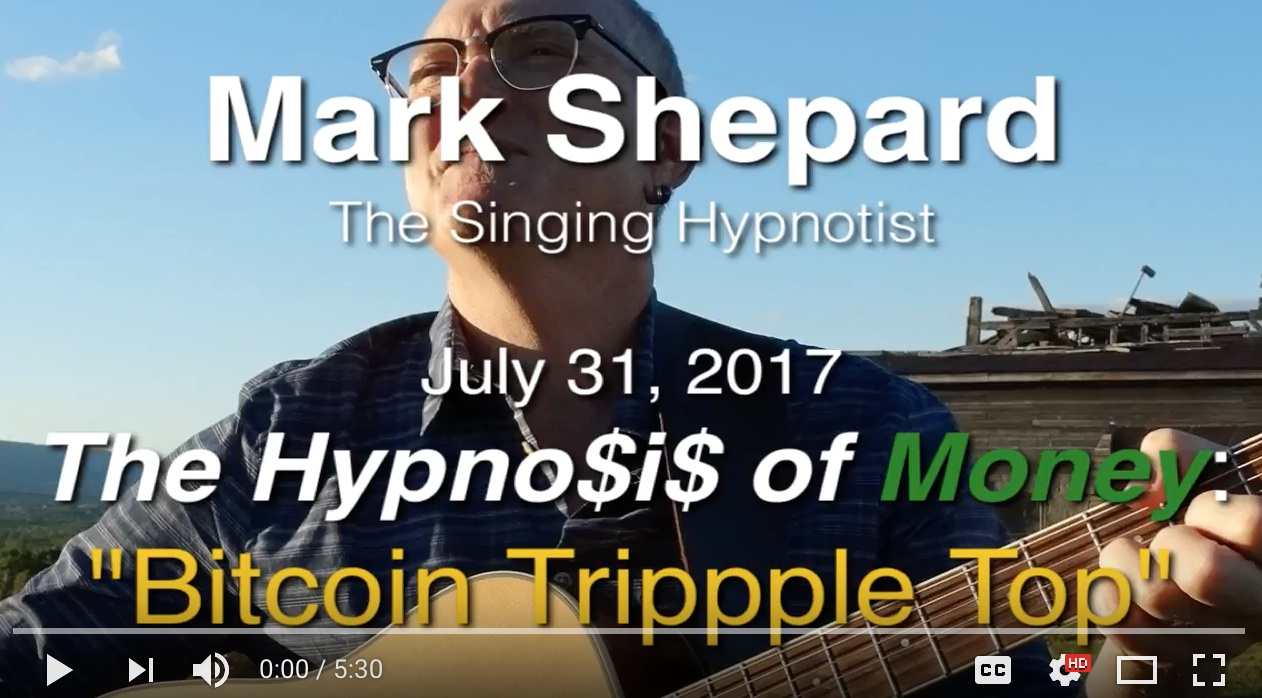 The Hypnosis of Money: Bitcoin Triple Top About To Pop?