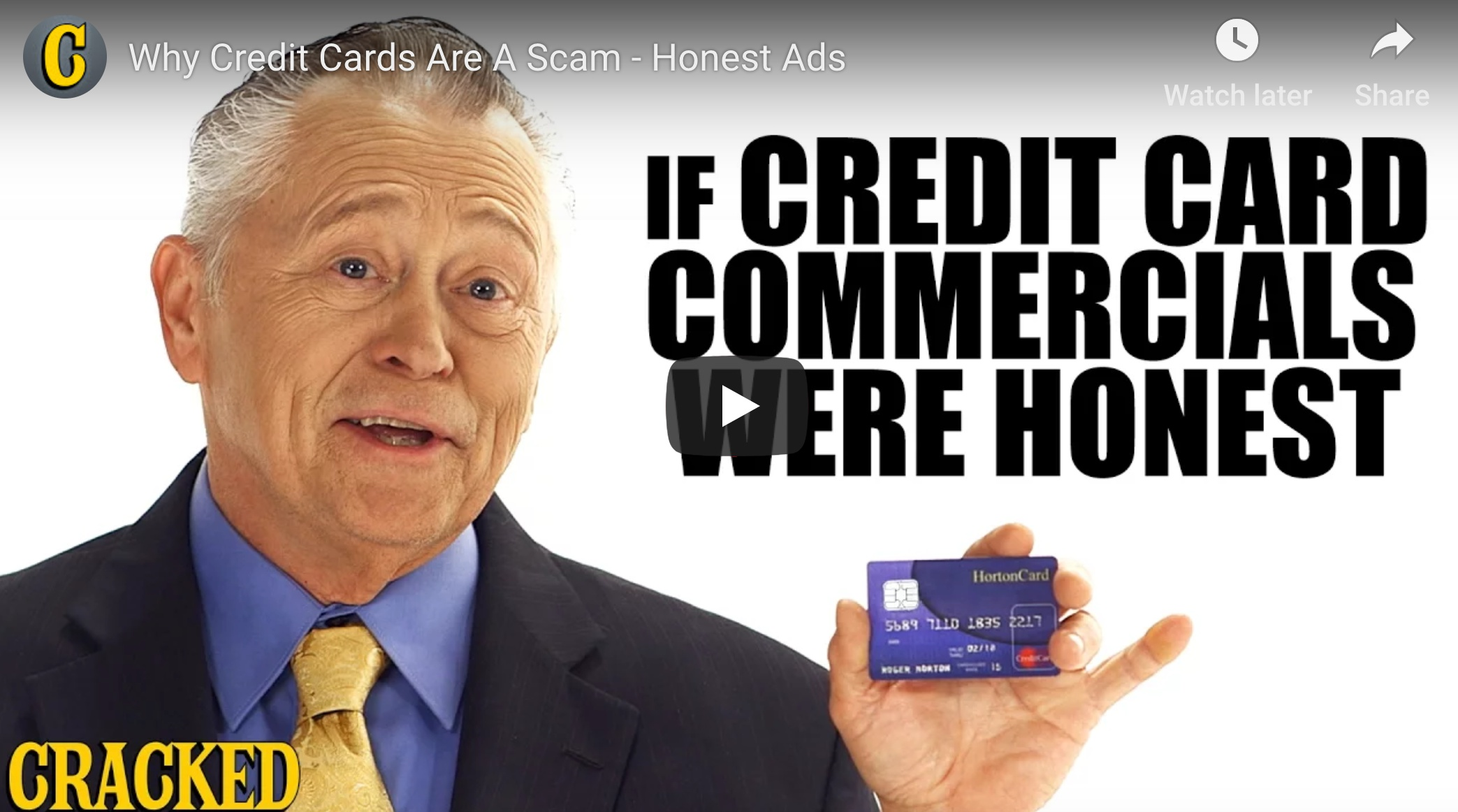 The Hypnosis of Credit Cards (humor, sort of)